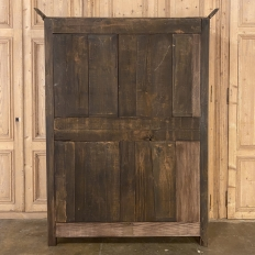Early 19th Century Country French Louis XVI Armoire in Stripped Oak