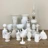 Antique French White Opaline Flower Vase