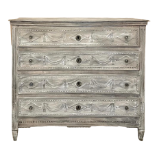 18th Century Country French Louis XVI Whitewashed Commode