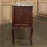 Antique French Regence Walnut Marble Top Commode