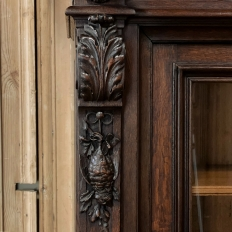 19th Century French Renaissance Hunt Bookcase ~ Vitrine