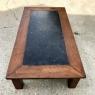 Mid-Century Chestnut Black Marble Top Coffee Table