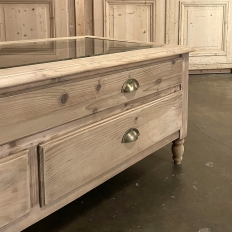 Vintage Solid Pine Collector's Coffee Table