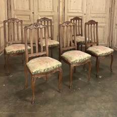 Set of 6 Antique Country French Dining Chairs