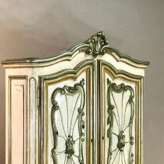 Italian Hand Painted Secretary ~ Bookcase from Piemonte, Italy