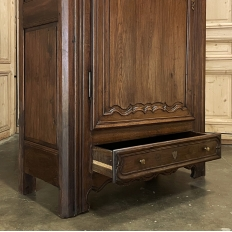 Early 19th Century Country French Oak Bonnetiere ~ Armoire