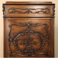 19th Century French Walnut Louis XV Marble Top Secretary