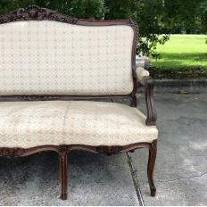 19th Century French Regence Walnut Canape ~ Sofa