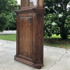 19th Century Country French Louis XIV Corner Cabinet ~ Vitrine