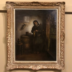 19th Century Framed Oil Painting on Canvas by Schneller