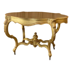 19th Century French Louis XV Gilded Center Table