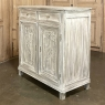 Early 19th Century Country French Louis XVI Whitewashed Oak Buffet