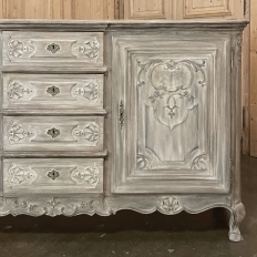 19th Century Country French Regence Whitewashed Buffet