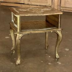 Antique Italian Florentine Painted End Table