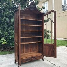 19th Century French Louis XV Walnut Bookcase