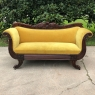 Mid-19th Century French Louis Philippe Period Mahogany Sofa with Mohair