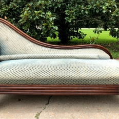 Mid-19th Century French Louis Philippe Period Mahogany Chaise Longue