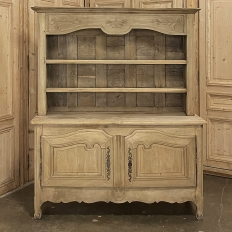 Early 19th Century Country French Vaisselier ~ Buffet in Stripped Oak