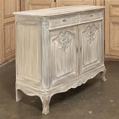 19th Century Country French Whitewashed Buffet