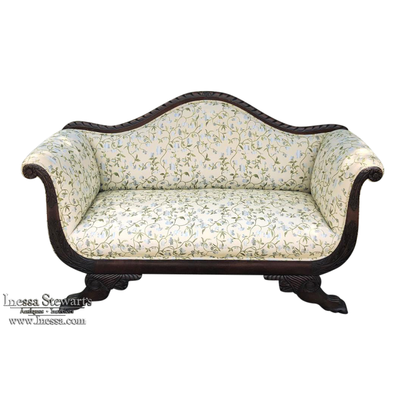 19th Century Louis Philippe Period French Mahogany Sofa ca. 1850