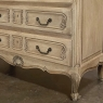 Country French Stripped White Oak Commode