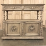 19th Century French Renaissance Barley Twist Dessert Buffet in Stripped Oak
