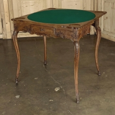 19th Century Country French Flip-Top Game Table ~ Console