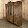 Antique Liegoise Triple Bookcase ~ Linen Press ~ Wardrobe