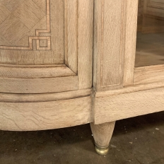 19th Century French Louis XVI Marble Top Inlaid Buffet