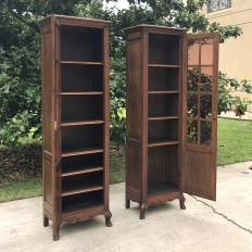 Pair Antique Country French Vitrines