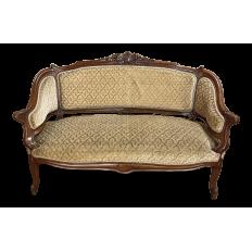 19th Century French Louis XV Walnut Canape