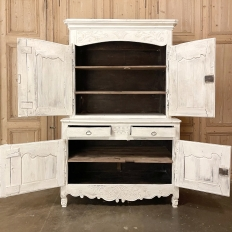 18th Century Country French Painted Buffet a Deux Corps