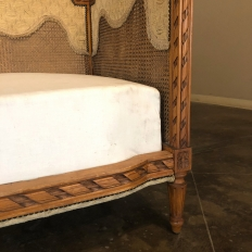 Antique French Louis XVI Fruitwood Caned Canape ~ Day Bed