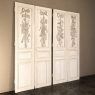 TWO Pair 19th Century French Louis XVI Painted Interior Doors