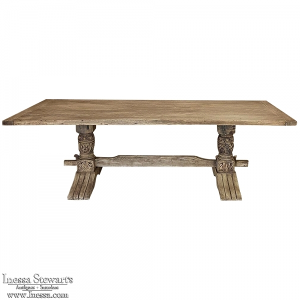 19th Century Grand Rustic Country French Table