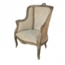 19th Century French Louis XV Gilded Bergere Armchair