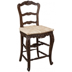 Country French Rush Seat Counter Chair