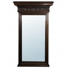 Antique Italian Baroque Walnut Mirror