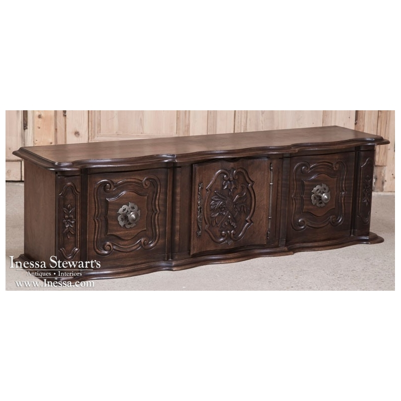 Antique Country French Walnut Wall Cabinet
