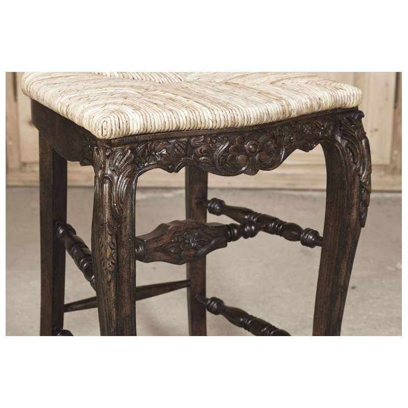 Country French Solid Oak Bar Stool Inessa Stewart S Antiques