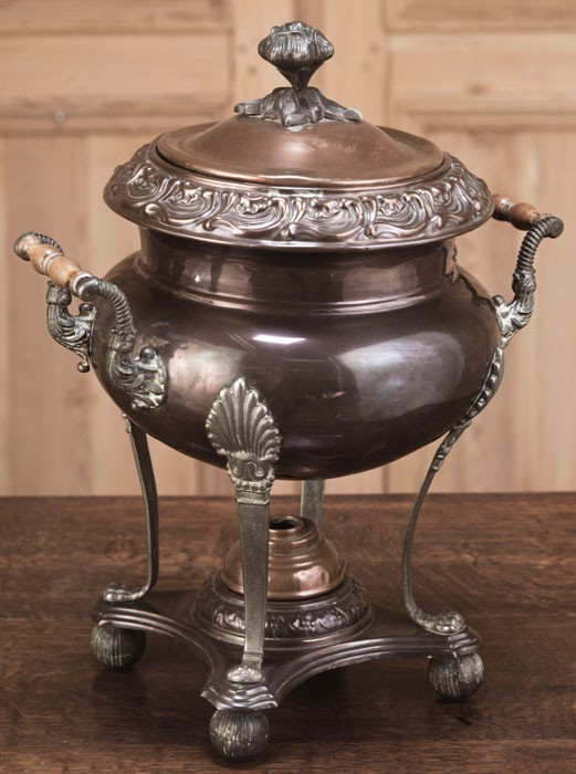 Antique French Copper And Bass Tea Urn Inessa Stewart S