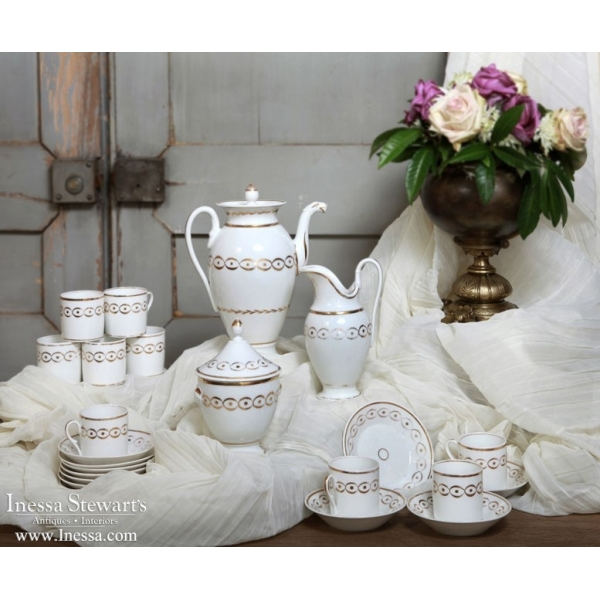 Antique Porcelain Coffee Service Set