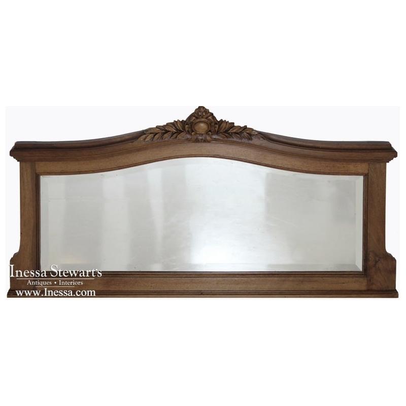 Vintage Louis XVI Walnut Mirror