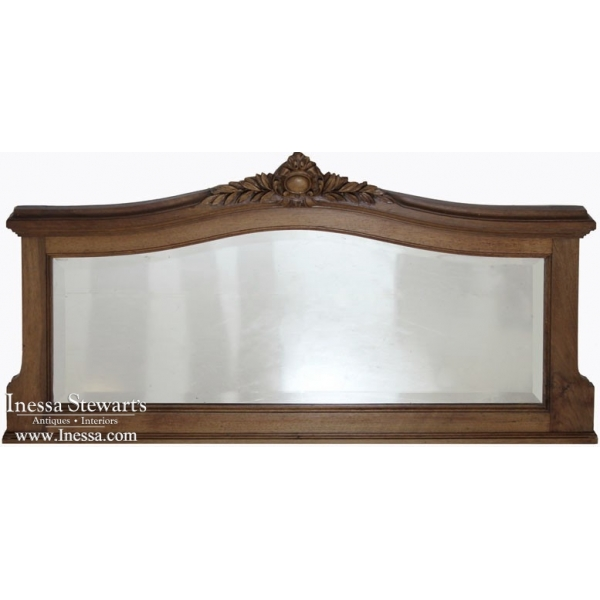 Vintage Louis XVI Walnut Mirror