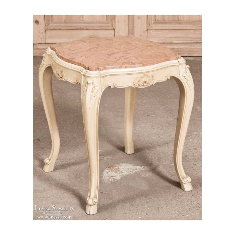 Vintage Country French Painted End Table