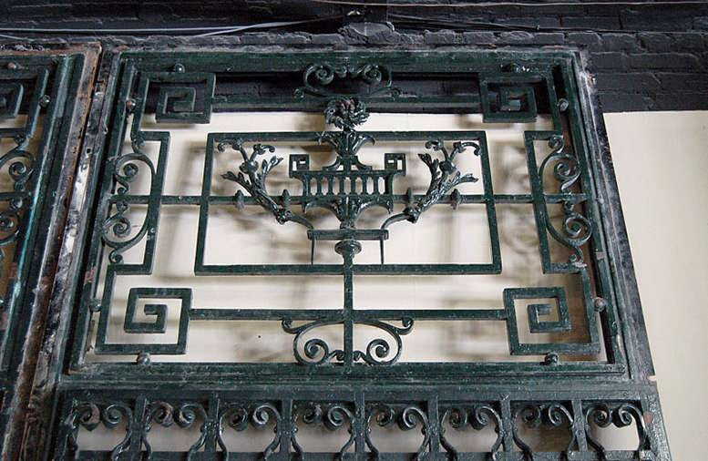 19th Century Paris Townhouse Hand Forged Wrought Iron Gate + Frame ...