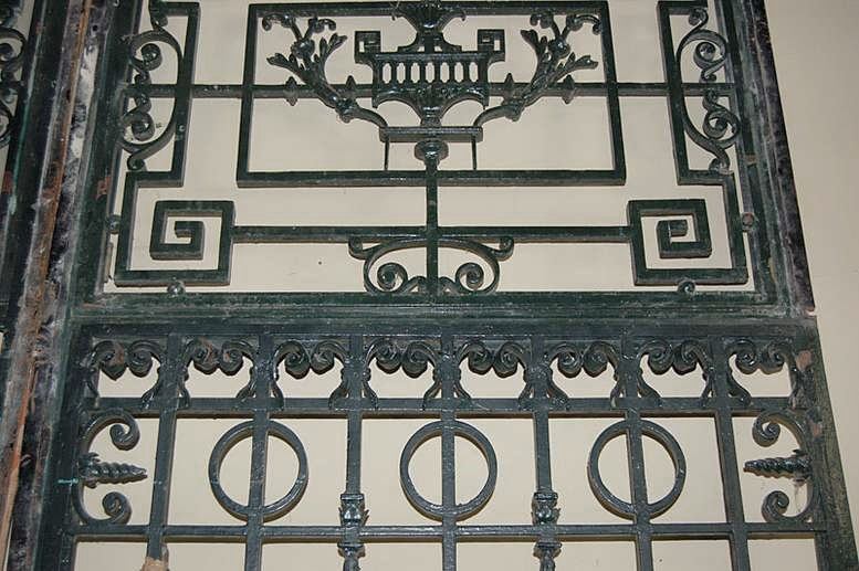 19th Century Paris Townhouse Hand Forged Wrought Iron Gate