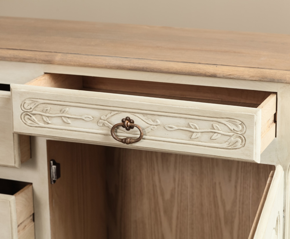 Fresh Country French Painted Buffet - Inessa Stewart's Antiques IK43