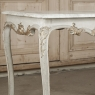 18th Century French Painted and Gilded Carrera Marble Top Table, Circa 1760.