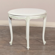 French Louis XV Painted Round End Table